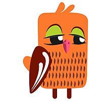 Cute cartoon owl Photographic Print