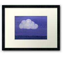 Sky Cloud on Sea Framed Print