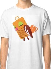 Cute female cartoon owl Classic T-Shirt