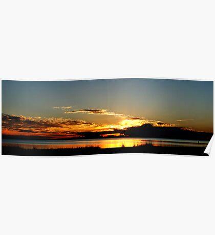 pano-Sunset over Biloxi Poster