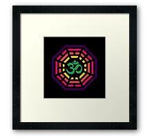 Om Dharma Psychedelic Framed Print