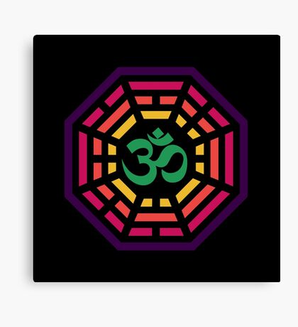 Om Dharma Psychedelic Canvas Print