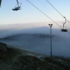 Chairlifts in the Mist by AndrewBlackie