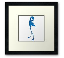 Single cartoon bird flying Framed Print