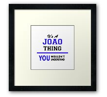 It's a JOAO thing, you wouldn't understand !! Framed Print