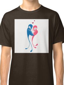 Two adorable cartoon birds in love Classic T-Shirt