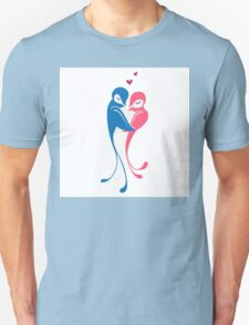 Two adorable cartoon birds in love T-Shirt