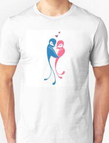 Two adorable cartoon birds in love Unisex T-Shirt