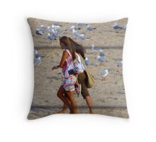 Maroubra Birdlife Throw Pillow