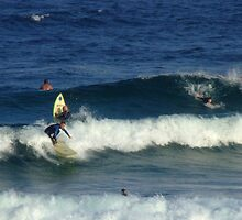 Surfers at Maroubra Beach  by pedroski
