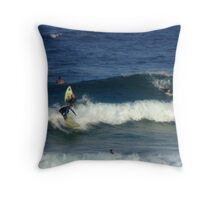 Surfers at Maroubra Beach  Throw Pillow