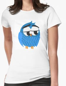 Cute cartoon owl Womens Fitted T-Shirt