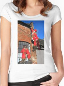 Santa Claus is coming to town Women's Fitted Scoop T-Shirt