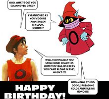 Dodo and Orko birthday card by mjfouldes