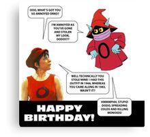 Dodo and Orko birthday card Canvas Print
