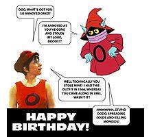 Dodo and Orko birthday card Photographic Print