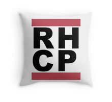 Run Chili Peppers Throw Pillow