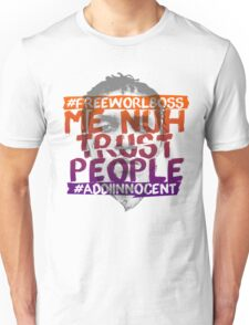 NUH TRUST PEOPLE #FREEWORLBOSS (ORANGE-PURP) Unisex T-Shirt