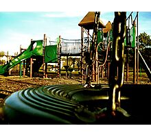 Tire Swing Aftermath Photographic Print