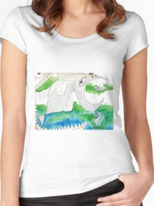 Big Fish Little Fish Women's Fitted Scoop T-Shirt