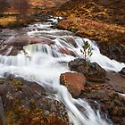 Scottish Falls. by Dave Hare