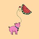 My Piggie Loves Watermelon by Elvedee