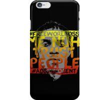NUH TRUST PEOPLE #FREEWORLBOSS (YELLOW-RED) iPhone Case/Skin