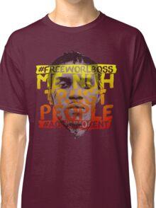 NUH TRUST PEOPLE #FREEWORLBOSS (YELLOW-RED) Classic T-Shirt