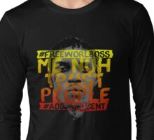 NUH TRUST PEOPLE #FREEWORLBOSS (YELLOW-RED) Long Sleeve T-Shirt