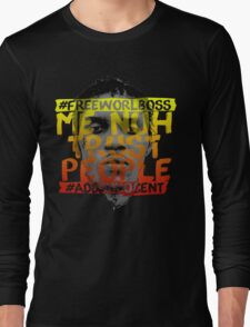 NUH TRUST PEOPLE #FREEWORLBOSS (YELLOW-RED) T-Shirt