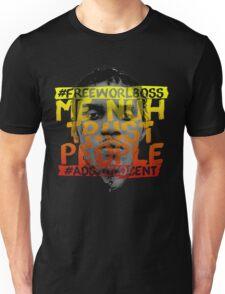 NUH TRUST PEOPLE #FREEWORLBOSS (YELLOW-RED) Unisex T-Shirt