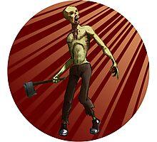 Zombie Axe Super Fun! Photographic Print