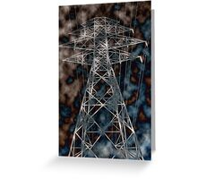 Hydro tower Greeting Card
