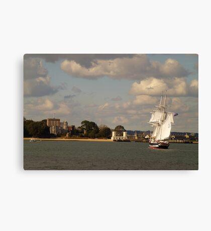 TS Royalist entering Poole Harbour Canvas Print