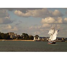 TS Royalist entering Poole Harbour Photographic Print