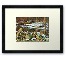 Stone Cold Creek Bank Framed Print