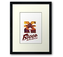 Blood for the blood god - Warhammer Framed Print