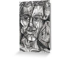 Fractured Self-portrait (Pen and Ink)- Greeting Card