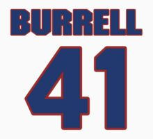 National football player George Burrell jersey 41 by imsport