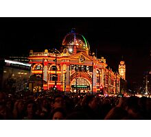 0347 Melbourne - White Night 7 Photographic Print