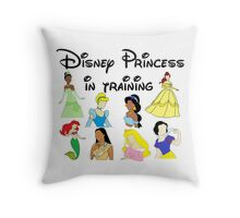 Disney Princess in Training Throw Pillow
