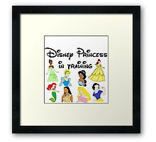 Disney Princess in Training Framed Print