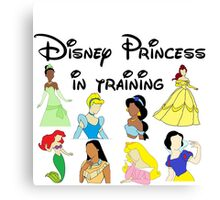 Disney Princess in Training Canvas Print