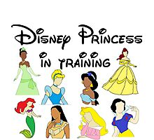 Disney Princess in Training Photographic Print