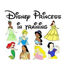 Disney Princess in Training Photographic Print