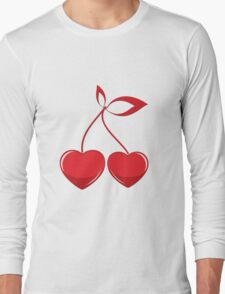Valentine cherry composition Long Sleeve T-Shirt
