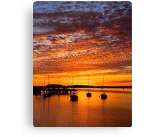 Sunset at Folly Beach Canvas Print