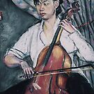 The Cello player by Fiona O'Beirne