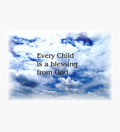 Childs Blessing Photographic Print