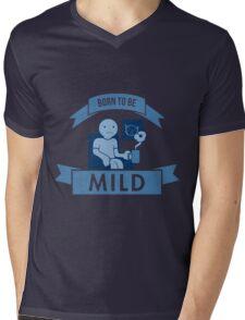 Born To Be Mild Mens V-Neck T-Shirt